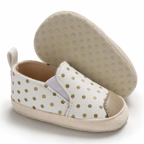 Voberry Baby Sneakers Newborn Infant Canvas Anti-Slip Crown Print Soft Sole Toddler Shoes