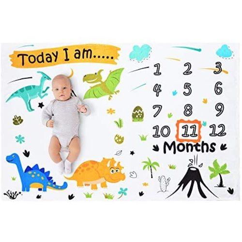 Cloele Baby Minky Blanket Dinosaur Plush Mink Double Layer Fleece Fabric for Newborns Toddler Bedding Blanket Baby Swaddle Blanket Ultra Soft Escalate Size 33 x 42 Inch