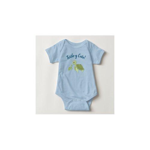 Tie Dye Turtle Sea Unisex Long Sleeve Baby Gown Baby Bodysuit Navy
