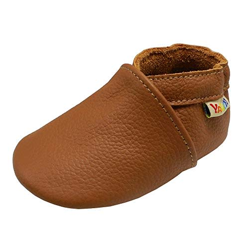 TIMATEGO Baby Boys Girls Oxford Shoes Hard Bottom Lace Up Sneaker PU Leather Moccasin Infant Toddler First Walker Uniform Dress Loafer Shoes 3-18 Months