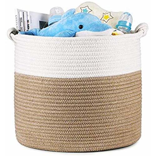 BlueMake Boho Woven Seagrass Belly Basket for Storage Plant Basket or Toy Basket Living Bathroom Small, Beige