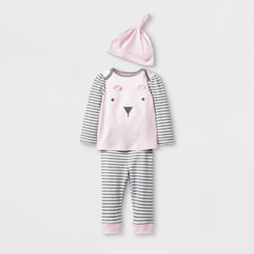 906d913d6b042 Baby Girls' 3pc Bear Top and Bottom Set with Hat - Cloud Island™ Pink ·  Target$9.99
