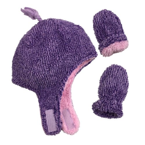 Goldbug Baby Purple Microfleece Beanie for Infant//Toddler Warm//Soft Cap