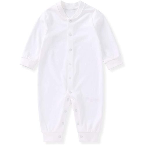 pureborn Unisex Baby Long Sleeve Cotton Footless Jumpsuit Sleep and Play