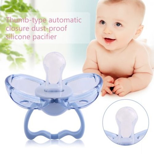 f4e94a481 Tbest Newborn Baby Safety Silicone Anti-dust Pacifier Automatically Close  Infant Nipple Soother, Silicone Soother, Infant Soother Nipple - Blue Flat  Head