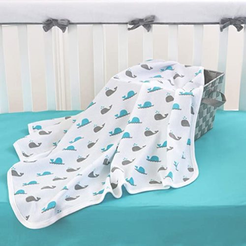 Thermal Receiving Blankets 1 Pack Spencers Grow with Me Aqua /& Pink