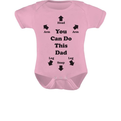 f9eff8d875e97 Tstars You Can Do This Dad - Funny Gift for New Dads Cute Baby Boy/Girl  Bodysuit NB (0-3M) Pink