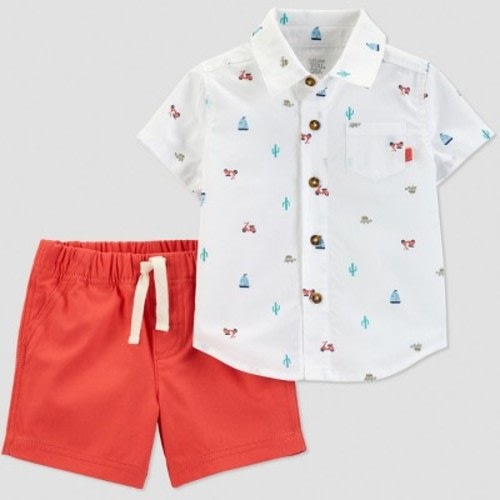 d9690c5e5 Baby Boys' 2pc Boat Print Shorts Set - Just One You® made by carter's  White/Orange · Target$12.99