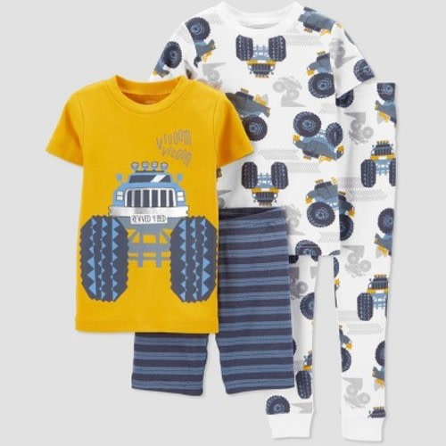 Just One You Made By Carter/'s Baby Boys/' Size 12M Striped Racecar Pajamas 4pc