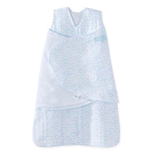 591aad7a485c HALO® SleepSack® Small Circles Muslin Cotton Swaddle in Blue ·  Babylist$24.99. Free Shipping ...