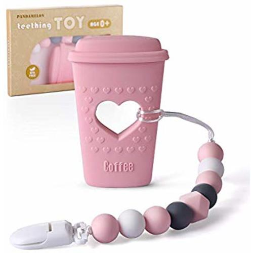 Cup Cozy Coffee Sleeve Set 2pc Pink and Coral Hearts