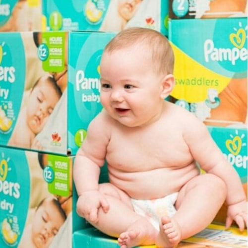 Full Year's Supply of Pampers Diapers and Wipes