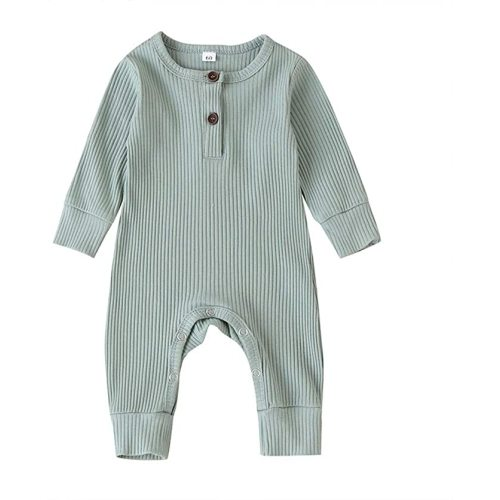 Baby Boy Girls Ribbed Romper One Piece Jumpsuit