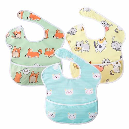 Hudson Baby 5 Pack Infant Drooler Baby Bibs in Lemonade Designs