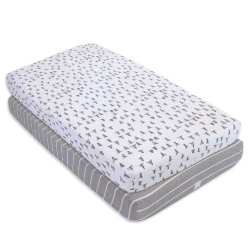 e47b0952557 Burt's Bees Baby® Pine Forest Organic Cotton Fitted Crib Sheets in Heather  Grey (Set of 2)