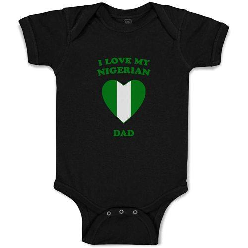 Custom Boy /& Girl Baby Bodysuit I Love My Jamaican Dad Funny Cotton Baby Clothes