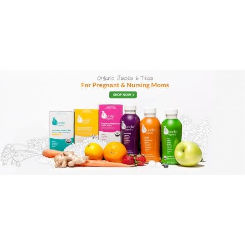 12 Bundle Organics Juices & 3 20 ct. Tea Boxes