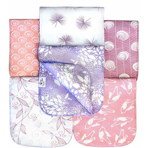 3 Pack Gift Set Pink Heart,Pink Zippy Extra Large Absorbent Bandana Bib for Children and Adults Plum Absorbent 100/% Cotton Front Dribble Bibs with Adjustable Straps