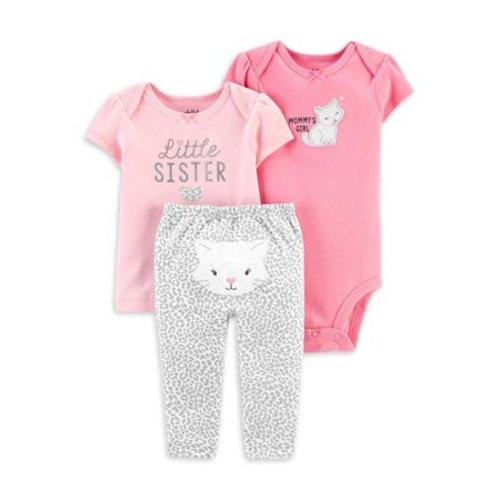 NEW Carter/'s Little Sister Purple Best Baby Sister Bodysuit Top NWT 3m 9m Girls