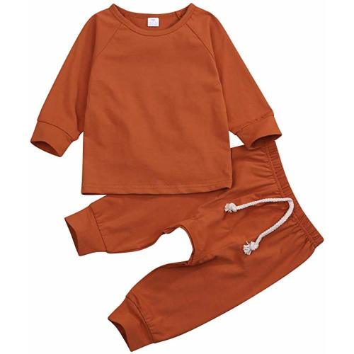Hat Three Piece Set I Love You Newborn Baby Long Sleeve Alpaca Letter Top kaiCran Baby Sets Pants