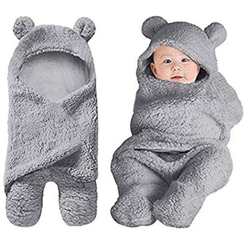 Navy Blue Dino Galabloomer Newborn Swaddle Blanket with Beanie Set Baby Boy Receiving Blanket