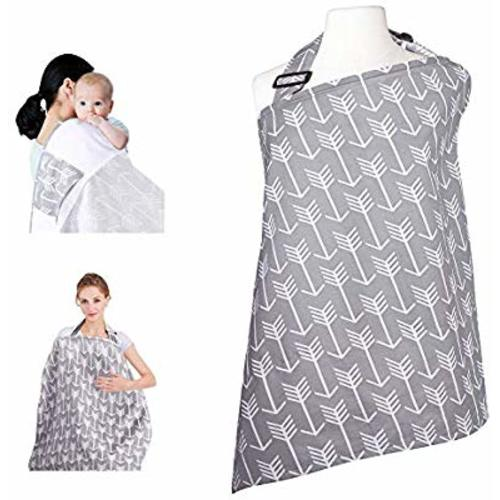 Nursing Cover with Burp Cloths Breastfeeding Cover for Baby Infants 100/% Cotton Privacy Feeding Cover Full Coverage /& Adjustable Strap by YOOFOSS
