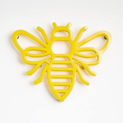 Buzzing around Honey Bee on Yellow and black reversible snap-on dog bandana