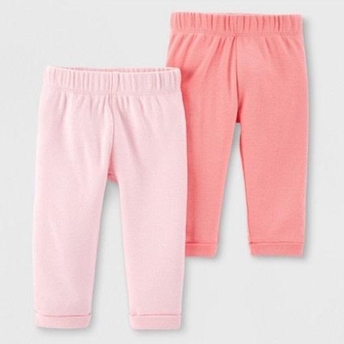 ca4eb7b06 Little Planet Organic by carter's Baby Girls' 2pk Leggings - Peach/Pink ·  Target$12.99