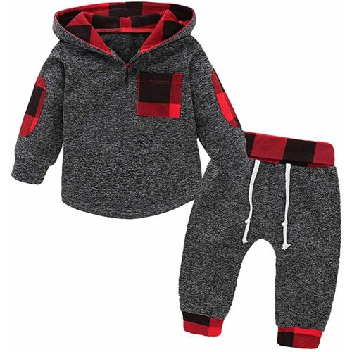 Plaid Moose Buffalo Newborn Infant Toddler Baby Girls Boys Bodysuit Short Sleeve 0-24 MonthsBlack