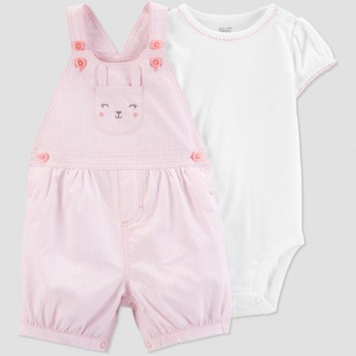 765c47378 Baby Girls' 2pc Bunny Shortall Set - Just One You® made by carter's Pink/ White Newborn