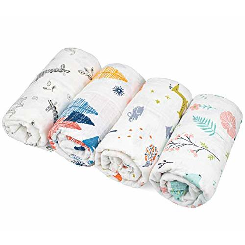 Soft and Absorbent for Infant Newborn Baby Boy Girl 10 x 10 Inch 6-Layers Natural Cotton Newborn Face Towels Baby Wipes Kingrol 12 Pack Colorful Baby Muslin Washcloths