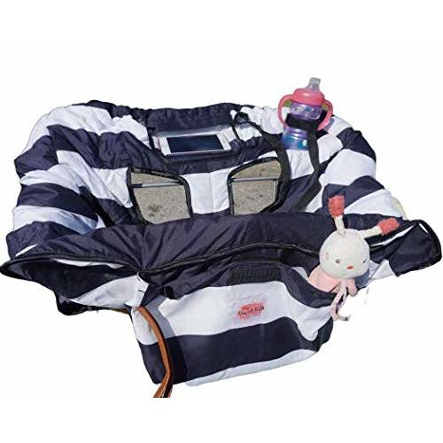 Machine Washable Universal fit Soft Fabric with Design for Girls and Boys Folds Easily Germ and Dirt Protection Shopping Cart Cover and Highchair Cover for Baby and Toddler by Luxe and Kids