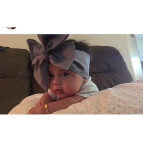 4969492a6 Gray Headwrap Baby Headband Toddler Bows Big Bow Turban Infant Newborn  Little Girl Grey Headwraps Headbands Hair Babies Turban , 0-3 Months