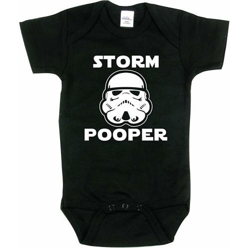 Gift Set. Funny Storm Pooper Bib Combo Deal Beanie Baby Romper