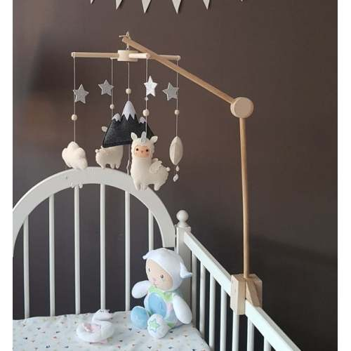 Baby mobile hanger Wooden frame Crib mobile holder Natural colour Ready to be painted Nursery Mobile DIY Baby mobile frame NEW model