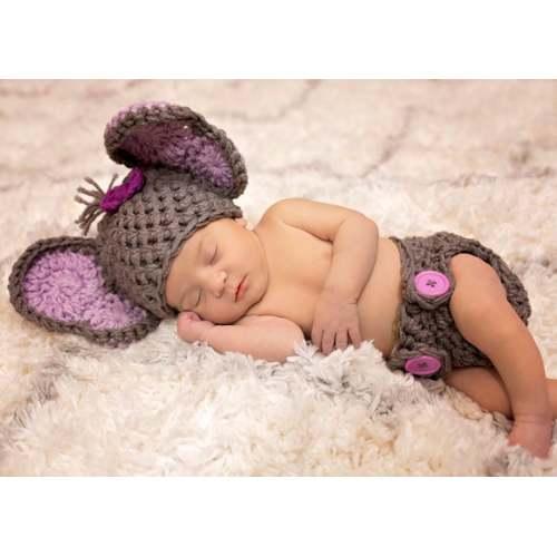 Baby girl Elephant Newborn Elephant Outfit Purple Elephant Personalized Little Elephant Bodysuit Baby Shower Gift