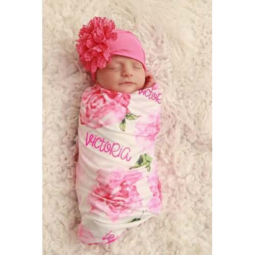 Princess wand Monogram Personalized Baby Toddler Blanket /& Bib Combo Set Girl