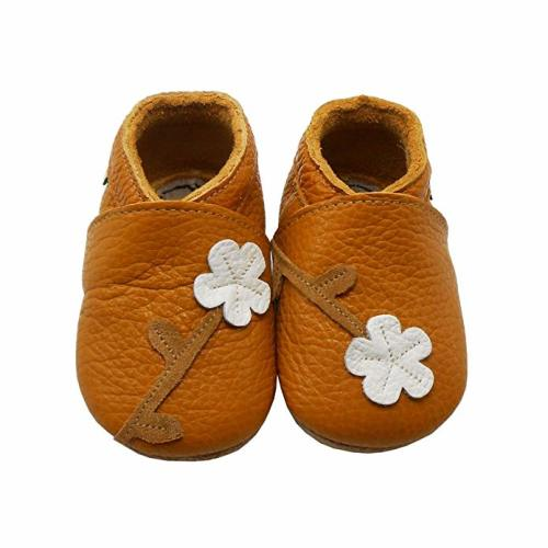 Sayoyo Baby Soft Leather Inch Infant Shoes Dark Brown