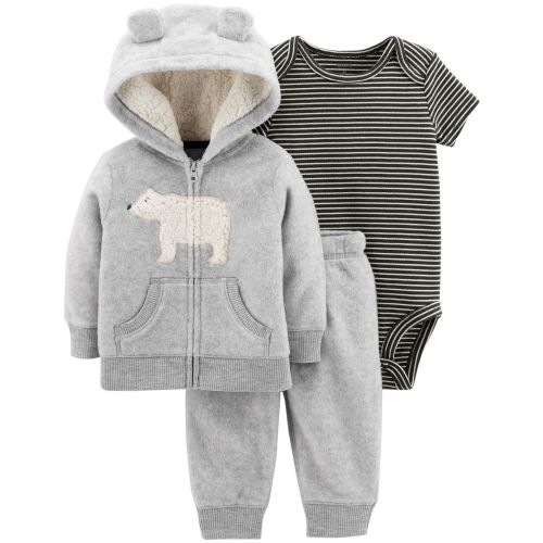 2bd8dbe1c 3-Piece Little Jacket Set - 6M - Heather - 12M