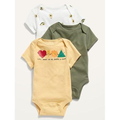 D is for Deer from My Minnesota Alphabet Print on Dark Heather Grey Baby short sleeve one piece