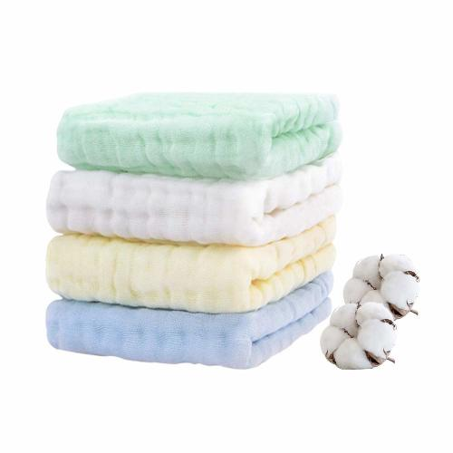 Soft Newborn Baby Face Wipes 6-Layer Cotton Bath Towel Viviland Baby Muslin Washcloths 12 Pack for Babys Sensitive Skin Great Shower Gift 12 x 12 inches