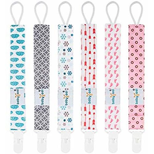 e4fee8702ee0 Babygoal Pacifier Clips for Girls, 6 Pack Pacifier Holder Fits Most  Pacifier Styles &Teething Toys and Baby Shower Gift 6PS16 - Plastic Clips -  Snow & ...