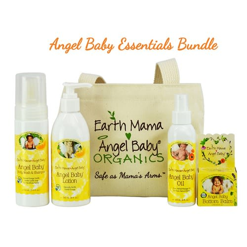 Earth Mama Angel Baby Baby Essentials Bundle: Organic Herbal Baby Shower Gift