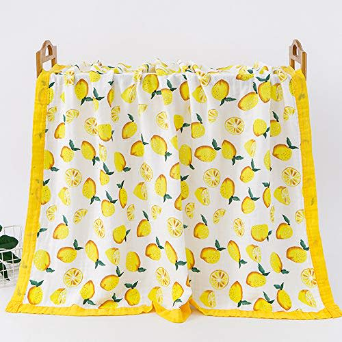 Baby Muslin Swaddle Blanket Newborn Baby Wrap Blanket 4 Layer Bamboo Summer Blanket for Toddler Soft and Breathable Baby Stroller Blanket Baby Showe Gift 43*47 /…