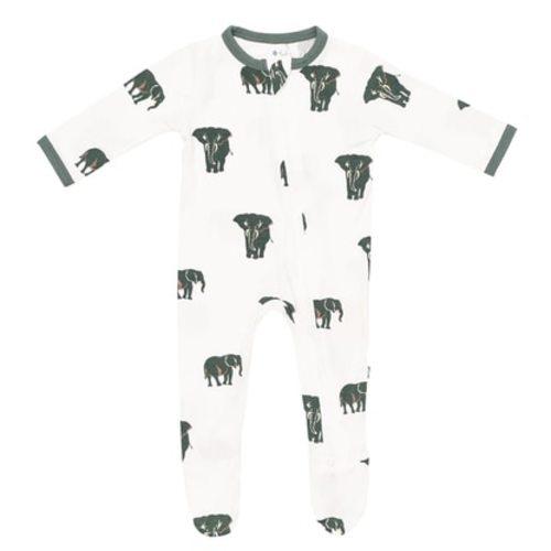 3-6 Months, Jade Whales KicKee Pants Kimono Newborn Gift Set with Elephant Box