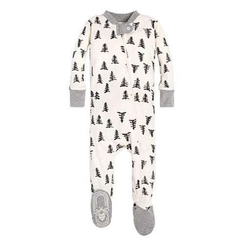 6078bd0f6 Burt's Bees Baby Baby Boy's Unisex Pajamas, Zip-Front Non-Slip Footed  Sleeper PJs, Organic Cotton - Baby Trees