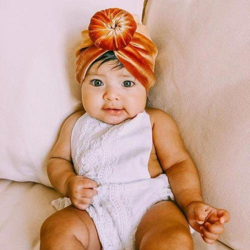 SKEPO 8 Pieces Headband Updated Newborn Baby Hat Cute Baby Headwraps Hair Band Girl Soft Turban Knot Hospital Hat