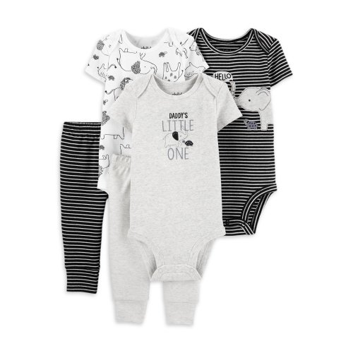 NEW Baby Boys Bodysuit 3-6 Months Monkey Creeper Outfit 1 Piece Fisher Price