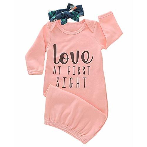 Infant Baby Girls Bodysuit Short-Sleeve Onesie Creative Rowing Anchor Print Outfit Winter Pajamas