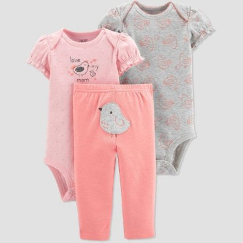 Just Peachy GUESS Baby Girls Set-Short Sleeve T-Shirt and Diaper Cover 12M